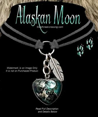 Wolves Howl Alaskan Moon Wolf Choker Necklace Wild Dog Jewelry - Free Ship #lc*