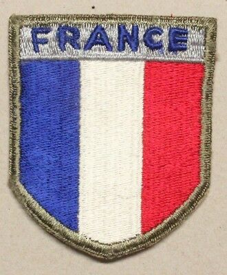 """Army Patch:   French Troops in the U.S. - WWII era, 2 1/2"""""""