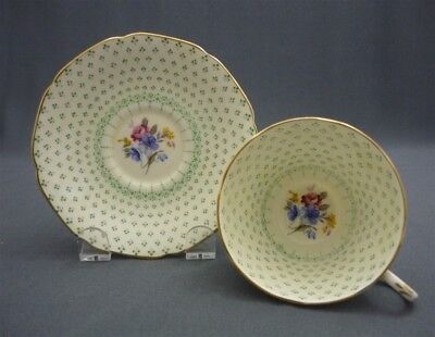 Fleur de Lis PARAGON England Bone China Hand Painted Flowers Tea Cup & Saucer
