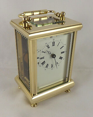 Excellent L'epee 8 Day Brass Carriage Clock - Fully Cleaned And Serviced