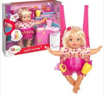 Mattel Little Giggle Mommy Laugh and Love Baby Doll w/ Carrier | Y6680