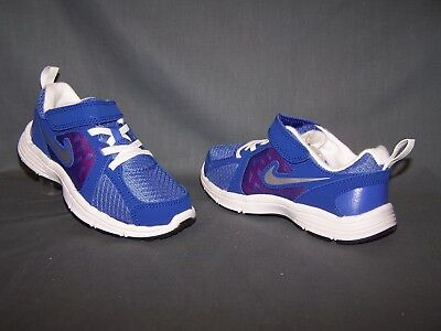 Nike Fusion Run (PS) Athletic Sneakers Violet Silver Pink Girls Size 12 NEW!