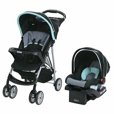 Graco LiteRider Click Connect Travel System, Car Seat Stroller - Sully Free Ship