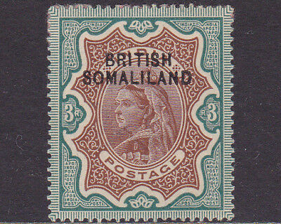 British Somaliland QV 1903 Overprinted Definitive 3r Brown & Green MH Stamp SG12