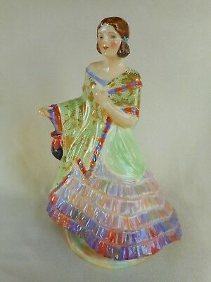 """1930s ART DECO PLANT TUSCAN CHINA """"LADY GRACE"""" FIGURINE - POTTED BY PLANT !"""