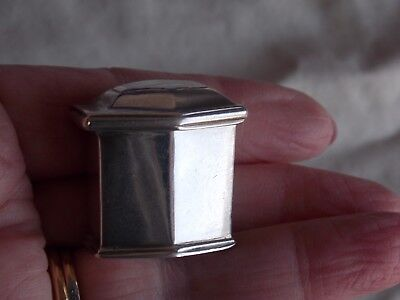 Vintage Stamped 925 Silver  Box With A Hinged Lid