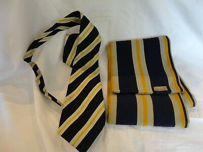 Vintage Old School or College Tie and Scarf AG Almond Ltd of Cambridge