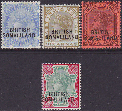 British Somaliland QV 1903 Overprinted Definitive 2a6p-1r MH Stamps SG18-SG21