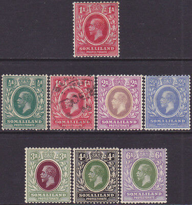 British Somaliland KGV 1912-1921 Definitive 1/2a-6a MH & Used Stamps SG61-SG79