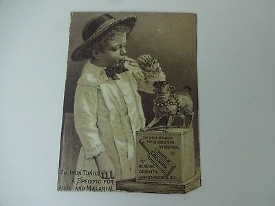 Vintage Nichols Bark & Iron Tonic late 1800's medicine trade card