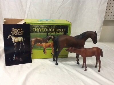 Breyer Creations Thoroughbread Mare & Foal #3155 w/Original Box