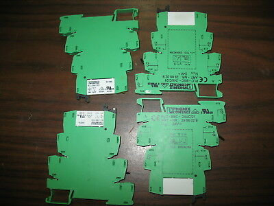 Lot of 4 Phoenix Contact PLC-BSC-24UC/21 Base with 2961105 Relays