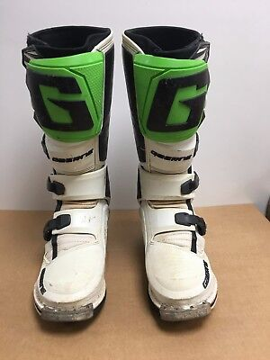 Used Gaerne Sg-12 Motocross Enduro Mx Boots, Sg12 Green, Euro Size 44, Uk 9