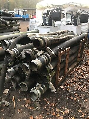 Large Quantity Of Pump Pipe And Hose x4 stillages