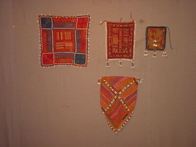 4  !!! Wonderful Antique Embroided And Other Needle Work India ? Rajastan ? **hg