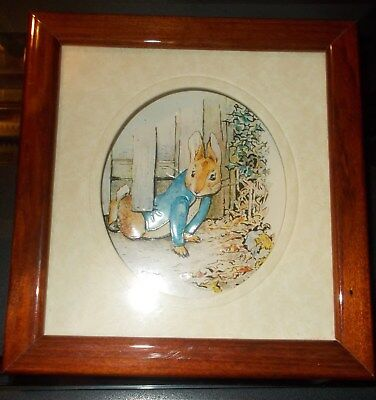 "Peter Rabbit 3-D Wall Hanging - 5 1/2"" X 5 1/4"" -He's Being Naughty!"