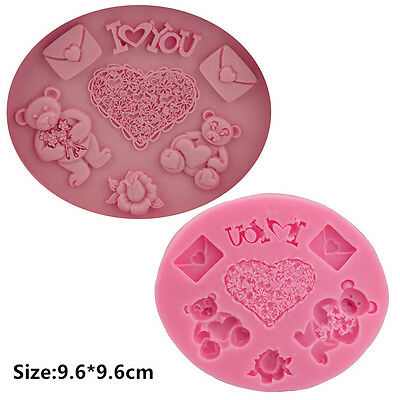 Bear Love You Silicone Cake Mold Fondant Sugar Craft Chocolate Decorating Tool
