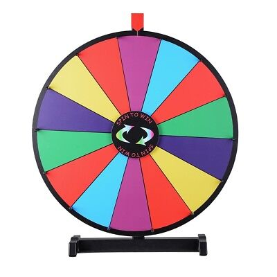 """WinSpin® Upgraded Editable 24"""" Color Prize Wheel Fortune Tabletop Spinning Game"""