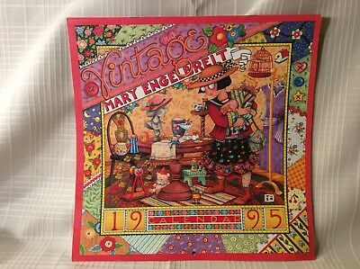 """MARY ENGELBREIT 1995 """"Vintage"""" Wall Calendar Unused Great for Framing Crafts"""