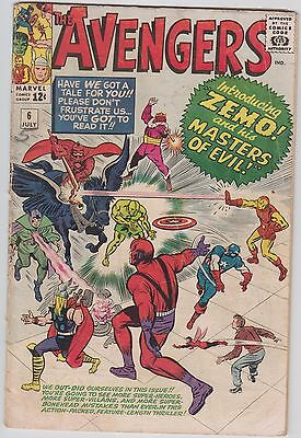 Avengers #6, GD+ (2.5) cream to off-white pages