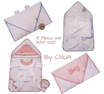 Newborn Baby Boy Girl Shower Gift Set Changing Mat Babygrow Sleepsuit Blanket