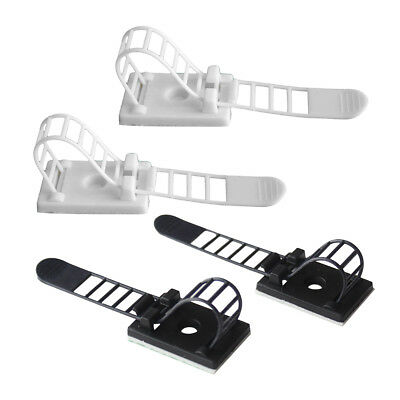20Pieces Adjustable Adhesive Cable Straps Cord Management Tie Mount Clips Useful