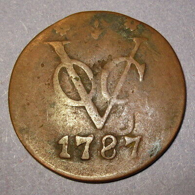 COA 1787 New York Penny VOC Gelderland Dutch Colonial Penny