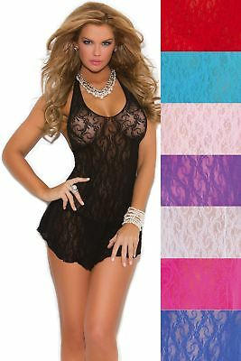 Sheer Lace Halter Mini Dress Micro Floral Print Sexy Sleeveless Women 8 Colors