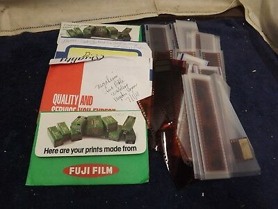 VINTAGE LOT OF 400+ PHOTO NEGATIVES 1980's-1990's Vacations Parties