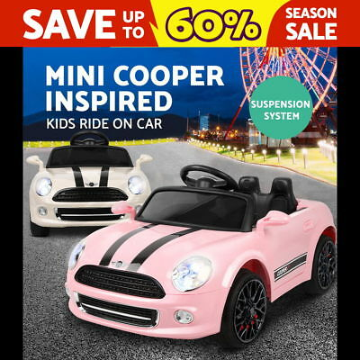 RIGO Kids Electric Ride on Car MINI Cooper Inspired Electric Toy Battery 2 Color