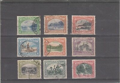 Trinidad And Tobago 1935 Kgv Sg230-Sg238 Lovely Used Set Of Nine Stamps