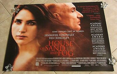 House Of Sand And Fog movie poster Jennifer Connelly, Ben Kingsley
