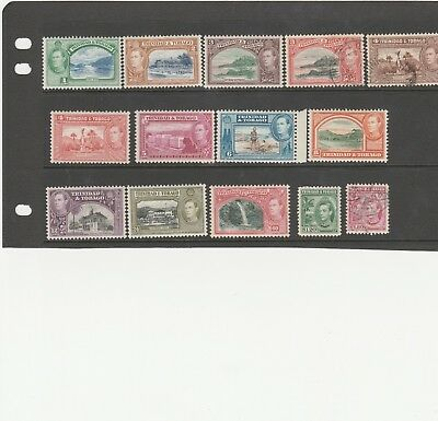 Trinidad And Tobago 1938 Kgvi  Sg246-Sg256 Mint And Used  Set Of 14 Stamps