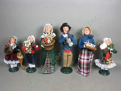 6 Byers Choice Carolers Lot Man Woman Xmas Cards Shoppers Presents Ltd Ed #/100