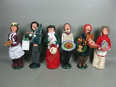 6 Byers Choice Carolers Lot Traditional Man Woman Grandparent Turkey Gingerbread