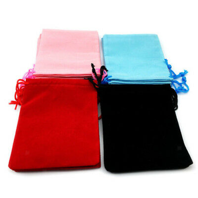 50pcs Velvet Jewelry Drawstring Pouch Wedding Party Favor Packing Gift Bags