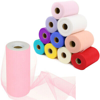 "*2018 New* Tutu Tulle Rolls  6"" Wide x 100Yards Soft Nylon Netting Fabric UK"