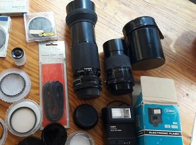 Lote Objetivos Lentes  Accesorios Lot Objectives Lens Accessories Camera Vintage