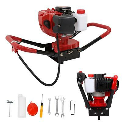 One Man 2.3HP 52CC Auger Gas Powered Post Hole Digger 2 Stroke Earth Machine Kit