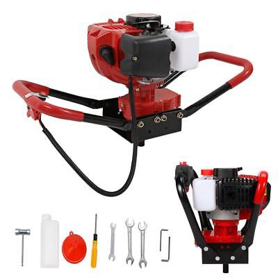 One Man 52CC Gas Powered Post Hole Digger 2.3HP 2 Stoke Earth Auger Power Engine