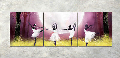 """3Parts Home Wall Decor Ballet girl 16x16"""" Art Printed Painting on Canvas 1218"""