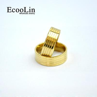 50pcs Gold Stainless Steel Rings Classic Design Jewelry Fashion For Men Women