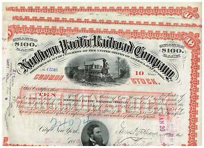 Set 3 Northern Pacific Railroad Co., 1880er, red