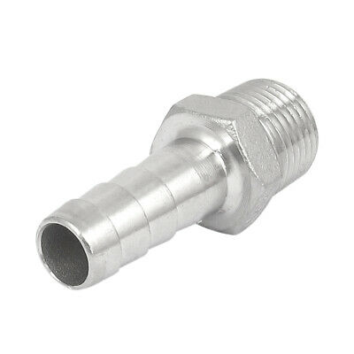 1/2BSP Male Thread to 14mm Hose Barb Straight Quick Fitting Adapter Coupler