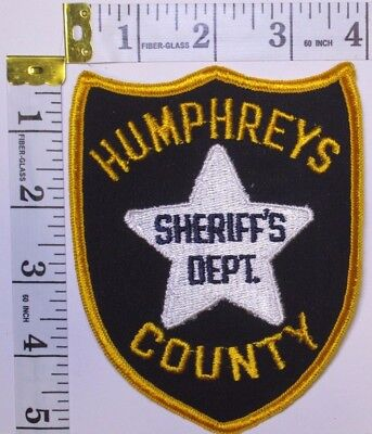 Humphreys County Mississippi Sheriffs Department Shoulder Patch