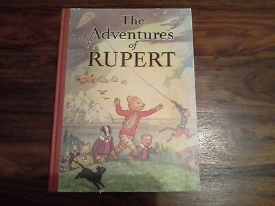 The Adventures Of Rupert Facsimile Hard Back Original Was 1939