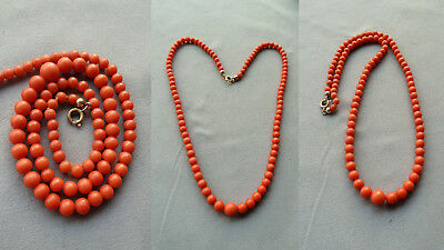 X6 珊瑚项链 antique natural coral necklace Korallenkette Koralle Perlen Collier