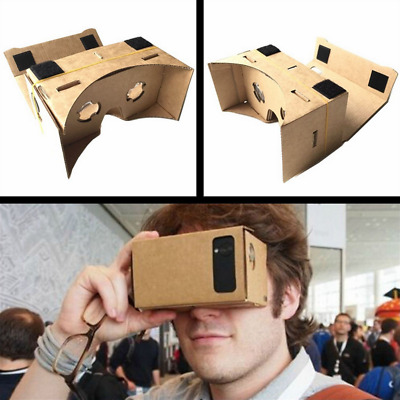 Cardboard 3D VR Virtual Reality Google Headset Glasses Movie Game for IOS Androi