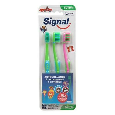 SIGNAL Playbrush - Brosse a dents - Souple - Lot de 3
