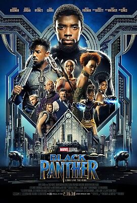 "Marvel BLACK PANTHER 2018 Original DS 2 Sided 27x40"" US Movie Poster C Boseman"
